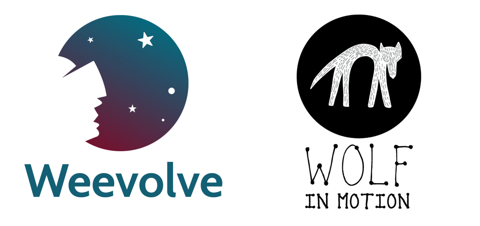 Logo Weevolve - Wolf In Motion