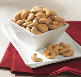 18 oz. Tin Unsalted Jumbo Cashews