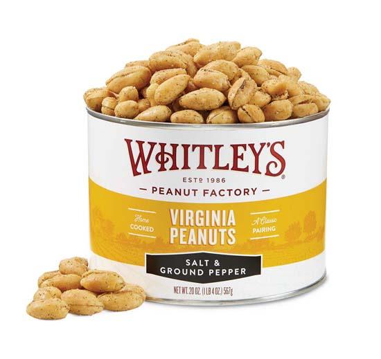 20 oz. Tin Salt & Ground Pepper Virginia Peanuts