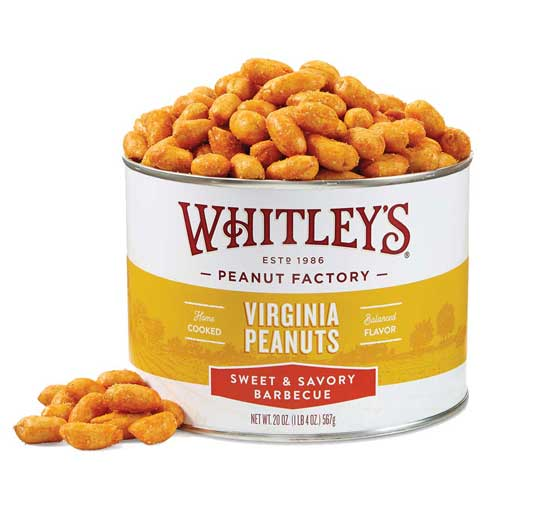NEW! 20 oz. Tin Sweet & Savory Barbecue Virginia Peanuts