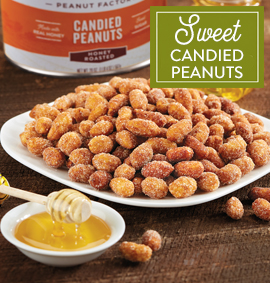 sweet candied peanuts