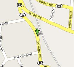 Google Map to Williamsburg Location