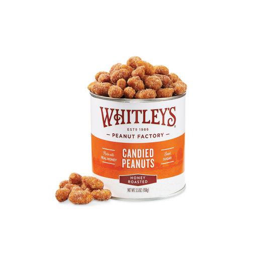 Case 20 - 5.5 oz. Tins Honey Roasted Virginia Peanuts