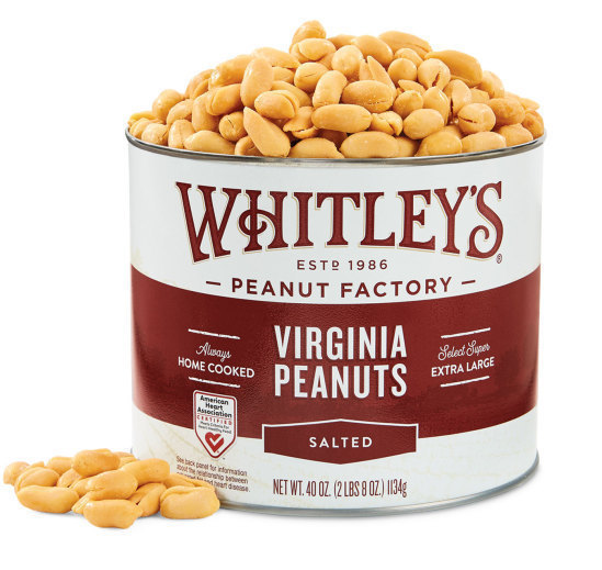 Case 8 - 40 oz. Tins Salted Virginia Peanuts