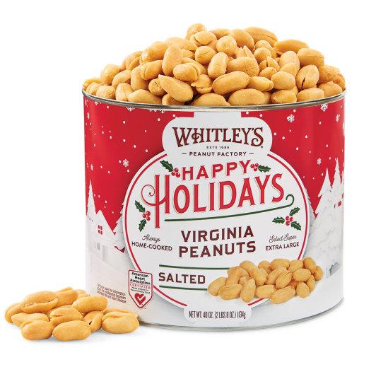 40 oz. Tin Holiday Salted Virginia Peanuts