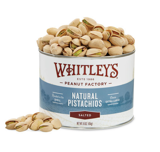 Case 12 - 16 oz. Tins Natural Pistachios