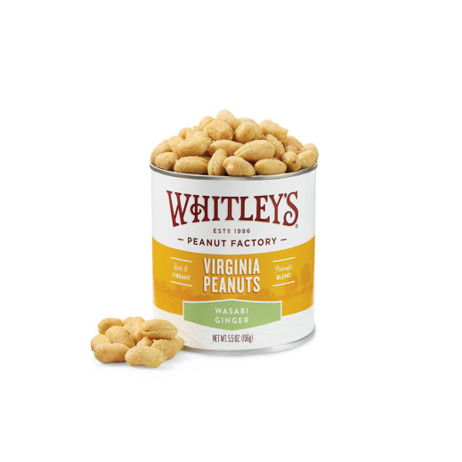 New! Case 20 - 5.5 oz. Wasabi Ginger Virginia Peanuts