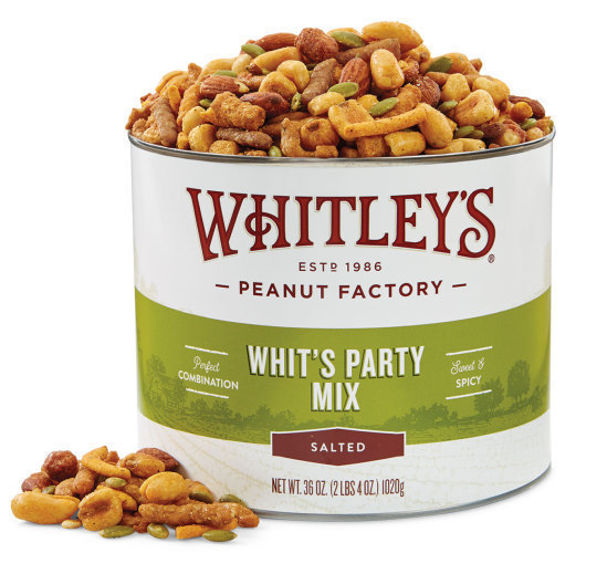 Case 8 - 36 oz. Tins Whit's Party Mix