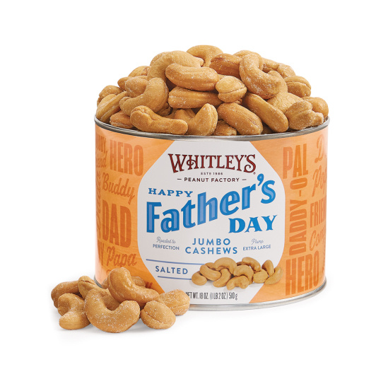 Father's Day Jumbo Cashews Tin