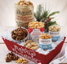 Merry Christmas Tray of Goodies - Whitleys Peanut Factory