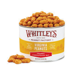 Case 12 - 20 oz. Tins Crabby Chesapeake Bay Virginia Peanuts