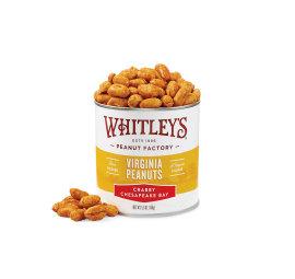 Case 20 - 5.5 oz. Tins Crabby Chesapeake Bay Virginia Peanuts