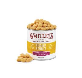 New! Case 20 - 5.5 oz. Fire Roasted Garlic & Onion Virginia Peanuts