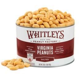 Case 12 - 32 oz. Tins Salted Virginia Peanuts