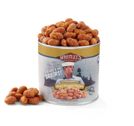 Two 12 oz. Tins Honey Roasted Virginia Peanuts