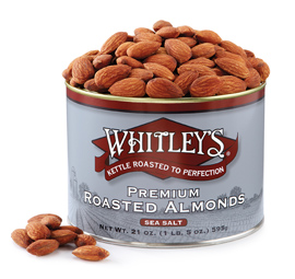 Case 12 - 21 oz. Tins Premium Kettle Roasted Almonds with Sea Salt