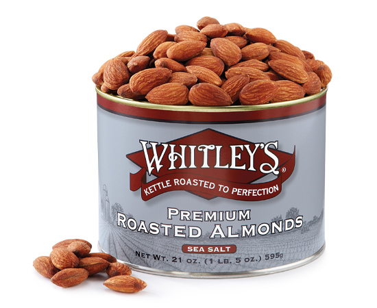 Premium Kettle Roasted Almonds with Sea Salt