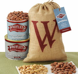 "Year Round ""W"" Burlap Gift Bag"