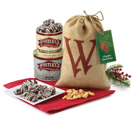"NEW! Holiday ""W"" Burlap Gift Bag"