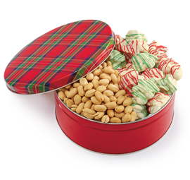 NEW! Holiday Plaid Tin
