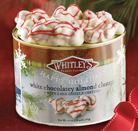 Holiday White Chocolatey Peppermint Almond Clusters
