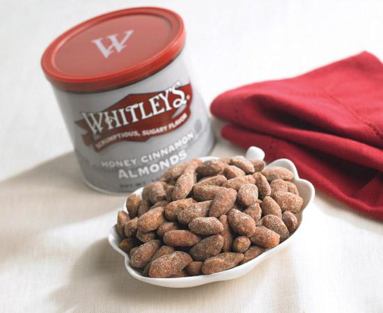 Buy Honey Cinnamon Almonds in Bulk | Whitleys Peanut Factory