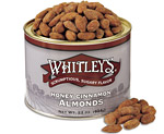 12-22 oz. Tins Honey Cinnamon Almonds (one case)