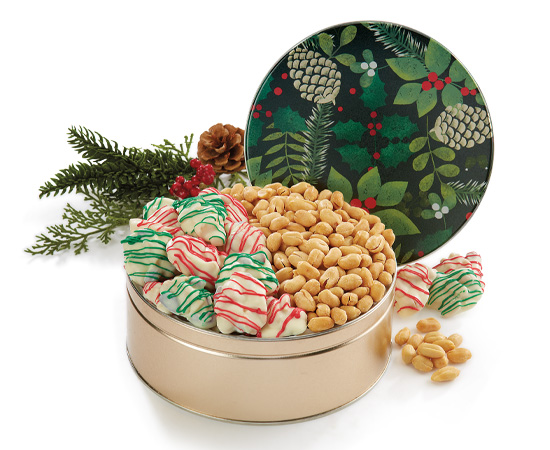 New! Golden Pine Cones Gift Tin