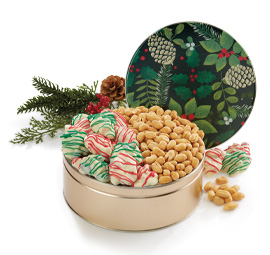 New! Golden Pine Cones Gift Tin