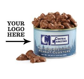 Holiday Blue Premium Custom Template Milk Chocolatey Covered Peanut Clusters