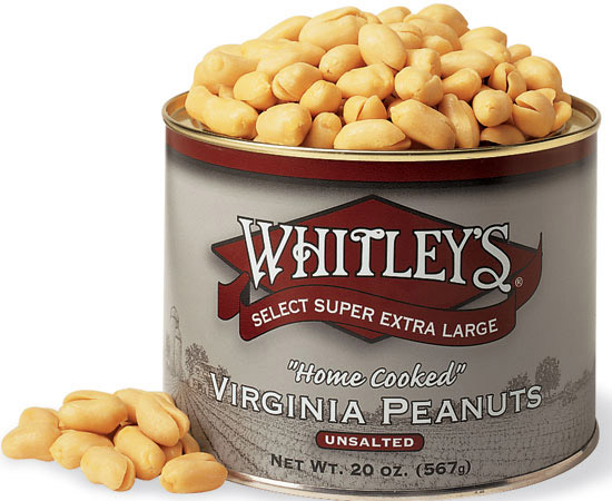 32 oz. Tin Unsalted Virginia Peanuts