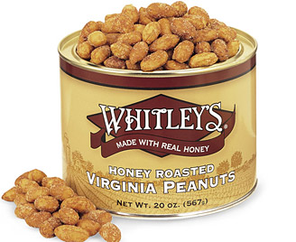 12-20 oz. Tins Honey Roasted Peanuts (one case)