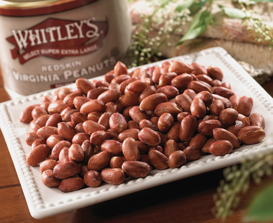 Case 12 - 20 oz. Tins Salted Redskin Peanuts