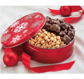 32 oz. Holiday Snowflake Tin