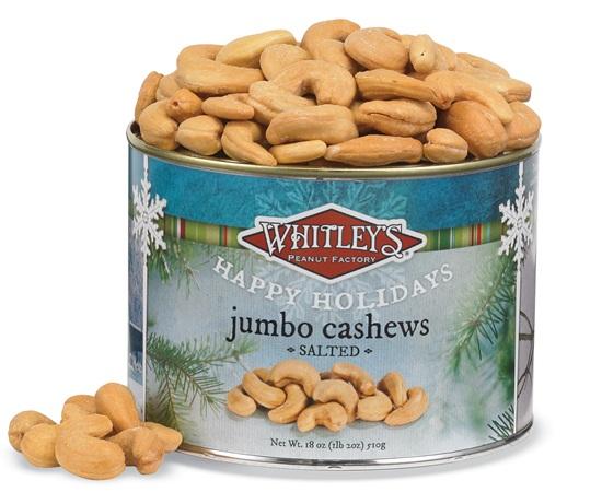 Holiday Salted Jumbo Cashews Tin