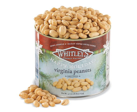 40 oz. Tin Holiday Salted Virginia Peanuts