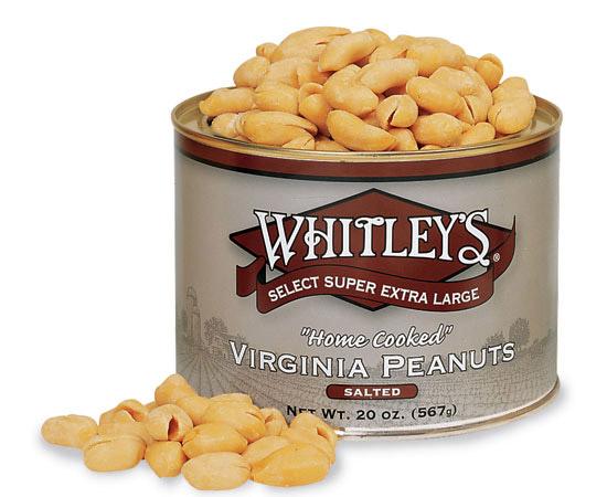 Case 12 - 20 oz. Tins Salted Virginia Peanuts