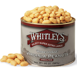 Case 12 - 20 oz. Tins Unsalted Virginia Peanuts
