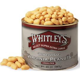 Case 12 - 20 oz. Tins Unsalted Virginia Peanuts
