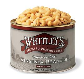 Case 12 - 32 oz. Tins Unsalted Virginia Peanuts