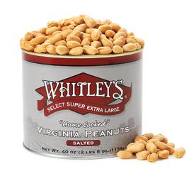 Case 8 - 40 oz. Tins Salted Virginia Peanuts
