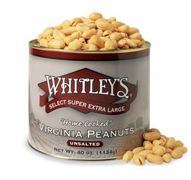 Case 8 - 40 oz. tins Unsalted Virginia Peanuts