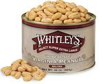Two 32 oz Tins Virginia Peanuts (Salted) - SAVE $6