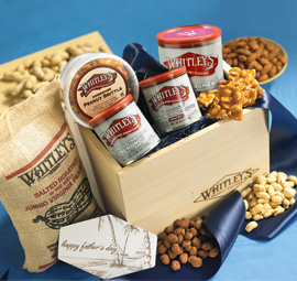 Father's Day Gourmet Nut Collection Crate - Whitley's Peanut Factory