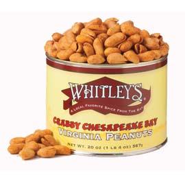 Case 12 - 20 oz. Tins Crabby Chesapeake Bay Peanuts