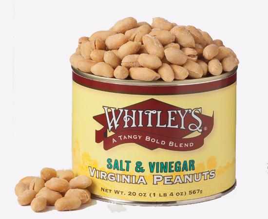 Case 12 - 20 oz. Tins Salt & Vinegar Virginia Peanuts