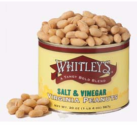 Case 12 - 20 oz. Tins Salt & Vinegar Virginia Peanuts