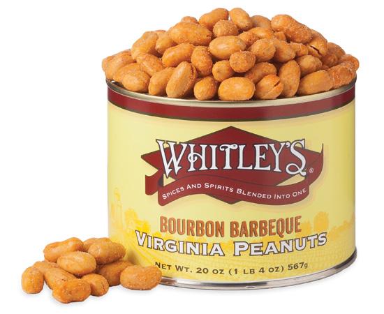 Case 12 - 20 oz. Tins Bourbon Barbeque Virginia Peanuts