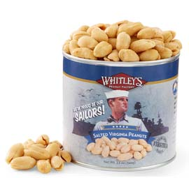 Two 12 oz. Tins Salted Virginia Peanuts