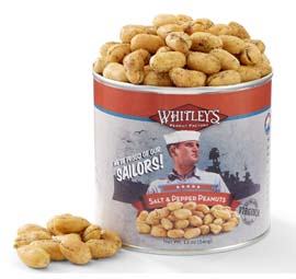 Two 12 oz. Tins Salt & Pepper Virginia Peanuts